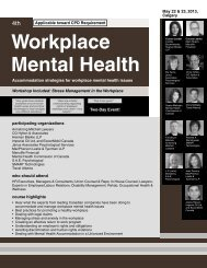Workplace Mental Health - Federated Press
