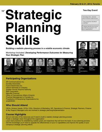 Strategic Planning Skills - Federated Press