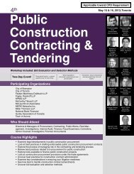 Public Construction Contracting & Tendering - Federated Press