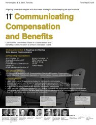 Communicating Compensation and Benefits - Federated Press