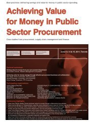 Achieving Value for Money in Public Sector ... - Federated Press