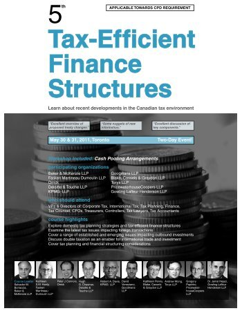 Tax-Efficient Finance Structures - Federated Press
