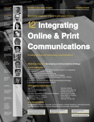 Integrating Online & Print Communications - Federated Press