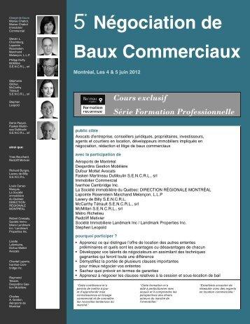 Négociation de Baux Commerciaux - Federated Press