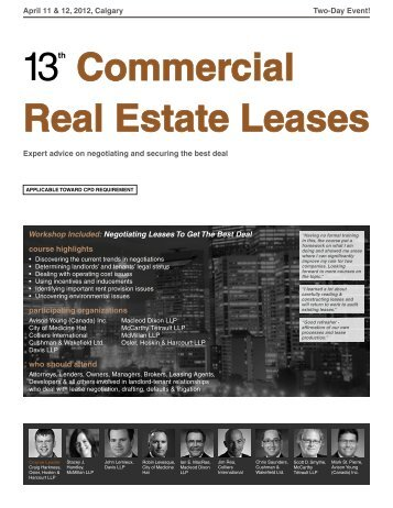 Commercial Real Estate Leases - Federated Press