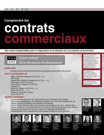 Comprend Contrat Commerciauc MTL.indd - Federated Press