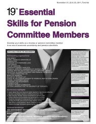 Essential Skills for Pension Committee Members - Federated Press