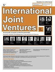 Dispute Resolution in International Joint Venture ... - Federated Press