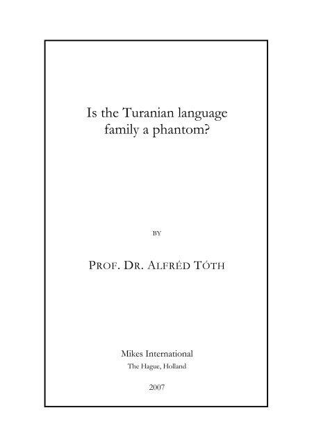 Is the Turanian language family a phantom?