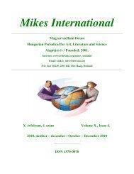 Mikes International 0410 - Hollandiai Magyar Szövetség