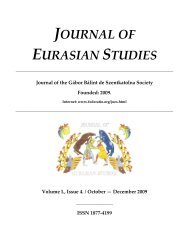 JOURNAL OF EURASIAN STUDIES