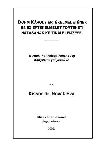 Kissné dr. Novák Éva Mikes International