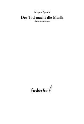 """Leseprobe aus """"Der Tod macht die Musik"""" als PDF-Download"""