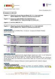 n° 1 AMIS - Associazione Italiana Master Scherma