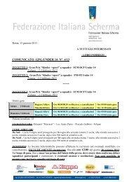 n° 4 del 15/01/2013 - Federazione Italiana Scherma