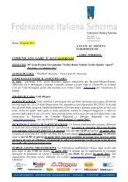 Notizie logistiche e iscrizioni 50° Gran Premio Giovanissimi