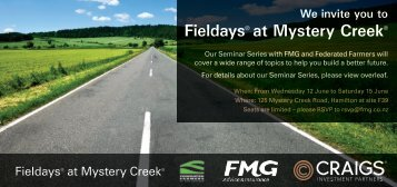 Fieldays® at Mystery Creek® - Federated Farmers