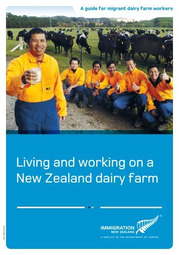 Living and working on a New Zealand dairy farm - Settlement Support