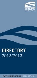 DIRECTORY - Federated Farmers