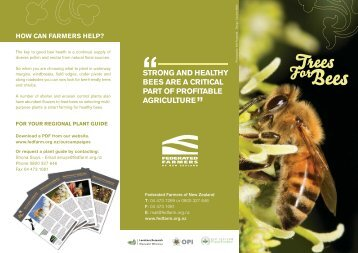 Trees for Bees Programme - Federated Farmers