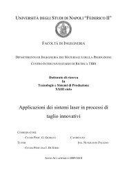 Applicazioni dei sistemi laser in processi di taglio innovativi - FedOA ...
