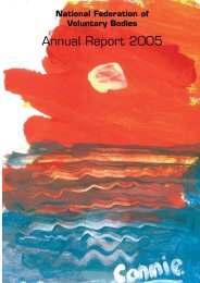 Annual Report 2005 - National Federation of Voluntary Bodies