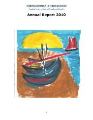 Annual Report 2010 - National Federation of Voluntary Bodies