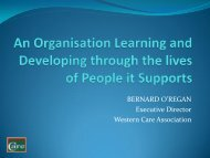 An Organisation Learning and Developing through the Lives of ...