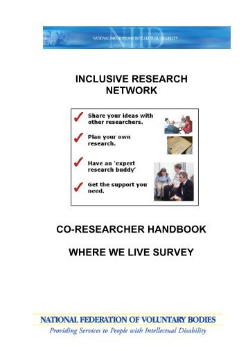 co-researcher handbook - National Federation of Voluntary Bodies