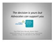 Supported decision making and independent advocacy