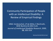 Community Participation of People with an Intellectual Disability: A ...