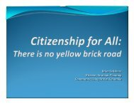 Citizenship for All: There is no yellow brick road