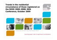 Trends in the residential circumstance of those registered on the ...