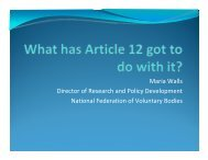 What has article 12 got to do with it? - National Federation of ...