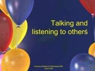 Respectful listening is