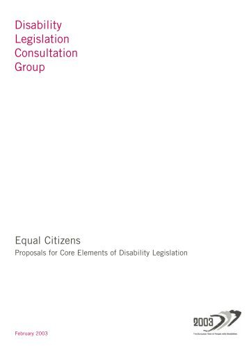 Equal Citizens - National Federation of Voluntary Bodies