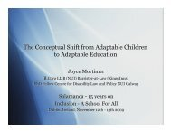 The Conceptual Shift from Adaptable Children to Adaptable ...