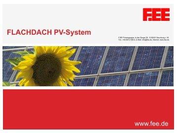 FLACHDACH PV-System - F.EE GmbH