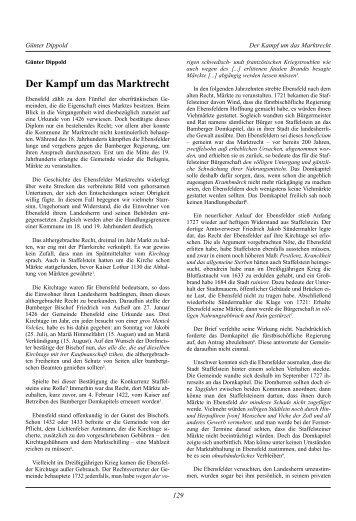 Der Kampf um das Marktrecht - Bezirk Oberfranken