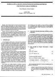 Potência Ativa e Reativa Instantâneas em Sistemas Elétricos ... - SBA