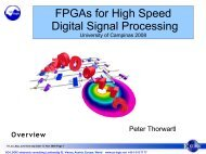 FPGAs for High Speed Digital Signal Processing