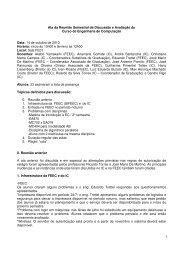 Ata da Reunião Semestral de Discussão e ... - FEEC - Unicamp
