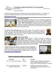 Destaques do mês - FEEC - Unicamp