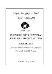 Projeto Pedagógico - 2007 FEEC - UNICAMP