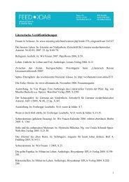 Publikationsliste Belletristik - Feedback Vahsen