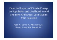 Expected Impact of Climate Change on ... - Feem-project.net