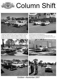 October?November 2007 - FE-FC Holden Car Clubs of Australia