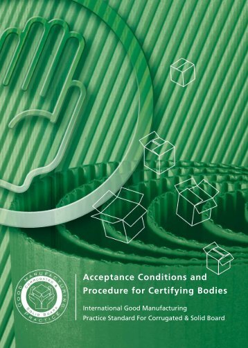 Acceptance Conditions and Procedure for Certifying Bodies - Fefco
