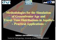 Methodologies for the Simulation of Groundwater Age and ... - FEFlow