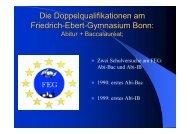 Bildungsgänge am FEG - Friedrich-Ebert-Gymnasium Bonn